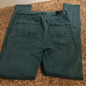 American Eagle Outfitters Jeans - American Eagle Green High Rise Jeggings